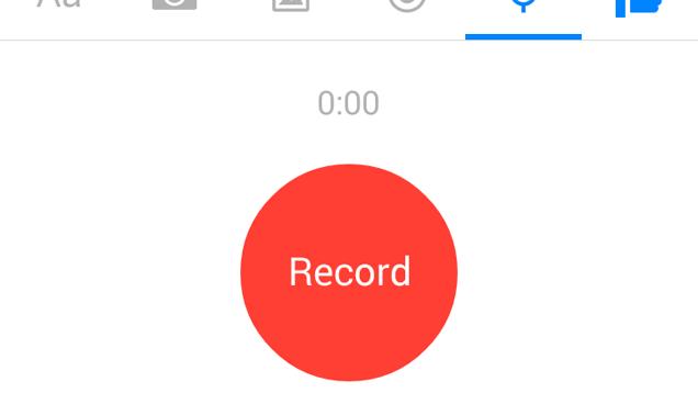 Envoyer des messages audio pour éviter la messagerie vocale :