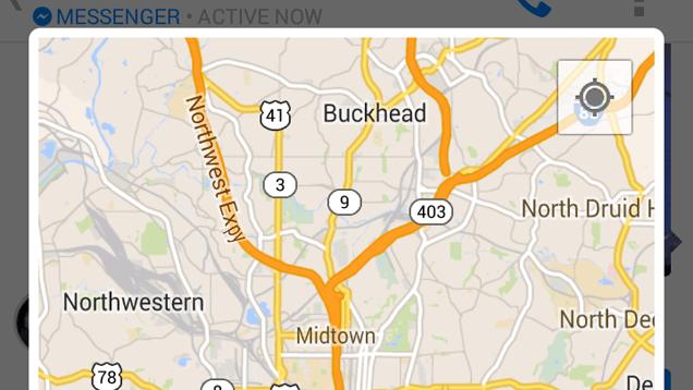 Utiliser la fonction « emplacement rapide » pour voir où vous vous situer