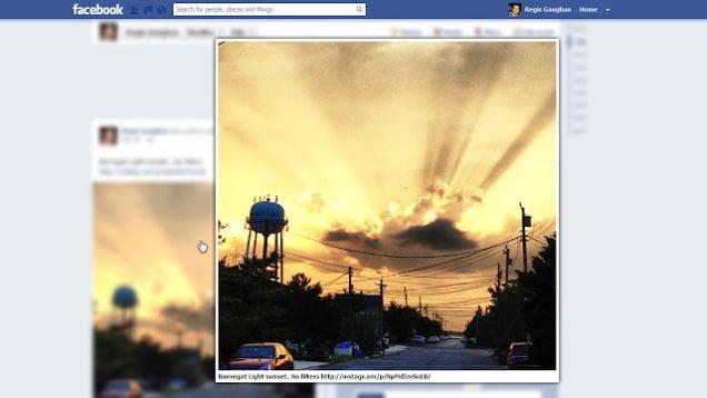 Photo zoom pour Facebook