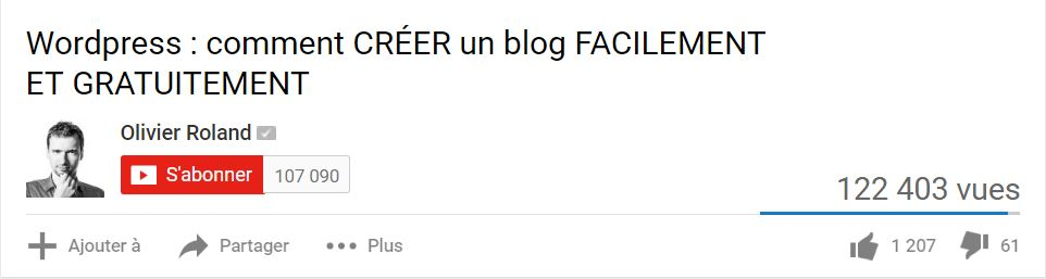 Partager youtube