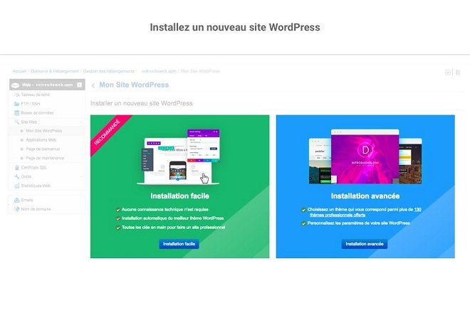 Installation WordPress en un clic