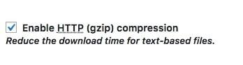 ctiver la compression HTTP (Gzip)