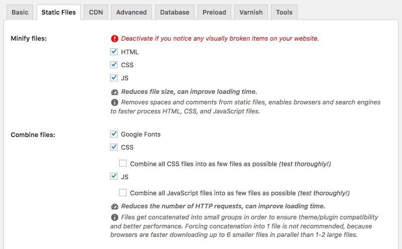 Minifier et combiner les fichiers pour accélérer la vitesse du site