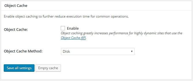 Activer la mise en cache des objets pour accélérer la vitesse du site