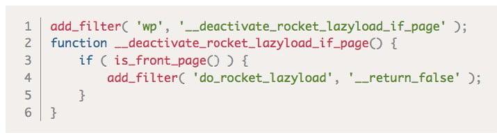 désactiver lazy load pour accélérer la vitesse du site