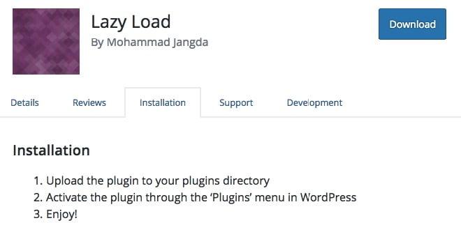 Utiliser Lazy Load pour avoir une vitesse de site plus rapide